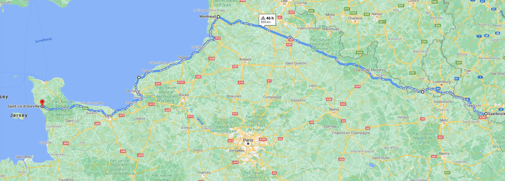 Streckenplan Tour 2021